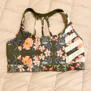 🌺 tropical floral print sports bra NWOT